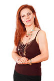 Self-employed woman. Confident successful self-employed businesswoman, a vertical portrait Stock Images