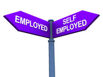 Self employed or working Royalty Free Stock Image