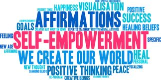 Free Self Empowerment Word Cloud Royalty Free Stock Photography - 103079927