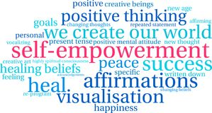 Free Self Empowerment Word Cloud Stock Images - 103967744