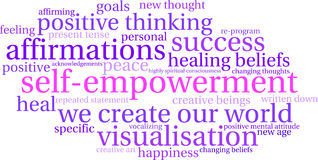 Free Self Empowerment Word Cloud Stock Images - 65105614