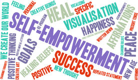 Self Empowerment Word Cloud Stock Photography
