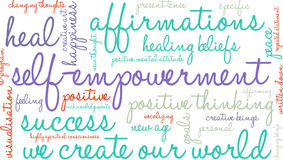 Self Empowerment Word Cloud Stock Images