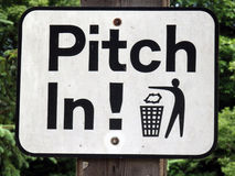 A self-explanatory sign at a campground Royalty Free Stock Photography