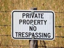 A self-explanatory sign at ranch in idaho Stock Image