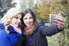 Self friends  in autumn Stock Image