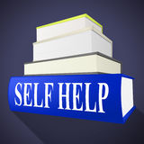 Self Help Book Represents Info Information And Counselling. Self Help Book Showing Helps Answers And I Royalty Free Stock Image