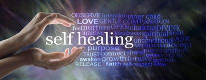 Self Help Healing Word Cloud royalty free stock photo
