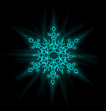 Self-illuminated snowflake Stock Photo