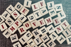 Self Improvement message Stock Images