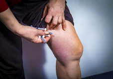 Self Injecting medical therapy Stock Photography