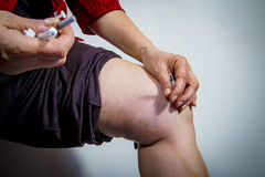 Self Injecting medical therapy Stock Images