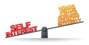 Self Interest Prevails Stock Images