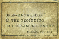 Self knowledge SP Royalty Free Stock Image