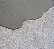 Self leveling compound spreading. ( close up Royalty Free Stock Photography