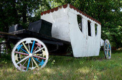 Self-made carriage assembled from improvised materials Royalty Free Stock Photo