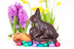 Self-made Easter bunny Royalty Free Stock Photography