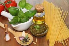 Self made green Pesto Stock Photo