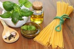 Self made green Pesto Stock Photos