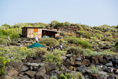 Self-made hovel in a tropics Royalty Free Stock Photography