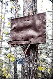 Self-made outdoor basketball ring Royalty Free Stock Photos