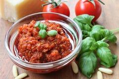 Self made red Pesto Stock Photos