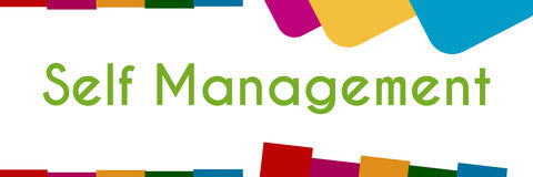 Self Management Colorful Shapes Stock Photos