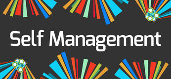 Self Management Dark Colorful Elements Stock Photo
