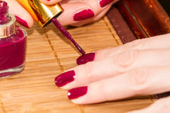 Self Manicure Stock Images