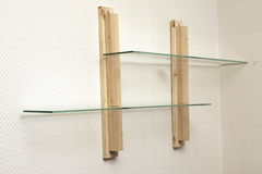 Self-manufacture shelf at home Royalty Free Stock Image