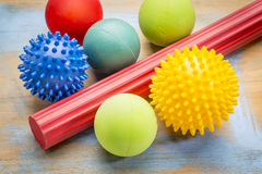 Self massage and reflexology therapy balls Stock Image