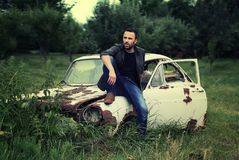 Self, Old-Car, Motor, Vintage Royalty Free Stock Photos
