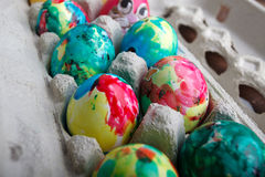 Self Painted Easter Eggs Stock Image