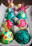 Self Painted Easter Eggs Stock Photos