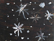 Self painting grunge winter background Stock Image
