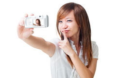 Self photographing Royalty Free Stock Image