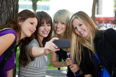 Self Portrait College Girls Stock Images