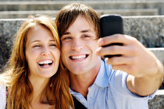 Self portrait couple Stock Image