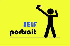 Self Portrait EP I. Inspired by the popularity of selfie among teenagers and adults Royalty Free Stock Photography
