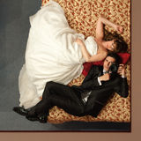 Self-portrait of newlyweds Royalty Free Stock Images