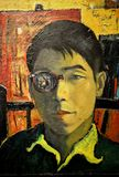 Self Portrait, Oil on Board by Lim Mu Hue Stock Photo