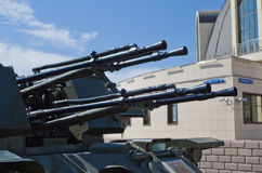 Self-propelled anti-aircraft weapon. Royalty Free Stock Photos