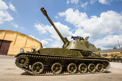 Self-propelled armored artillery howitzer 152mm howitzer 2C3 Acacia Royalty Free Stock Image