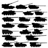 Self-propelled artillery-2. Self-propelled anti-tank artillery unit. The illustration on a white background Stock Image