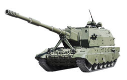 Self-propelled artillery Class self-propelled howitzer isolated Stock Images
