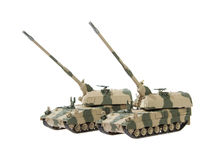 Self-propelled artillery Royalty Free Stock Photography