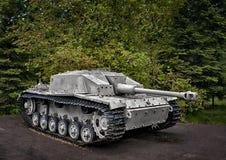 Self-propelled artillery unit. German self-propelled gun StuG III Ausf. G installation class assault guns of World War II Stock Images