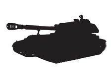 Self-propelled artillery vector Stock Image