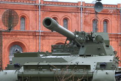 Self-propelled gun close-up royalty free stock photo