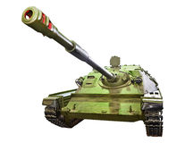 Self-propelled gun SU-85. Isolated Stock Photo